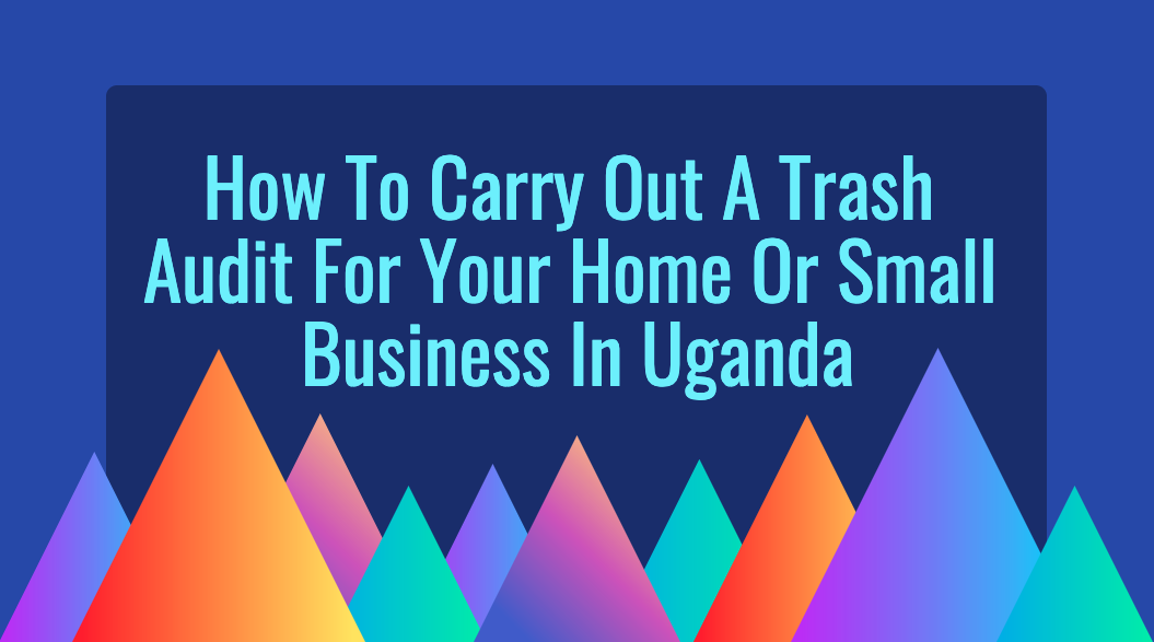 How to carry out a trash audit for your home or small business in Uganda