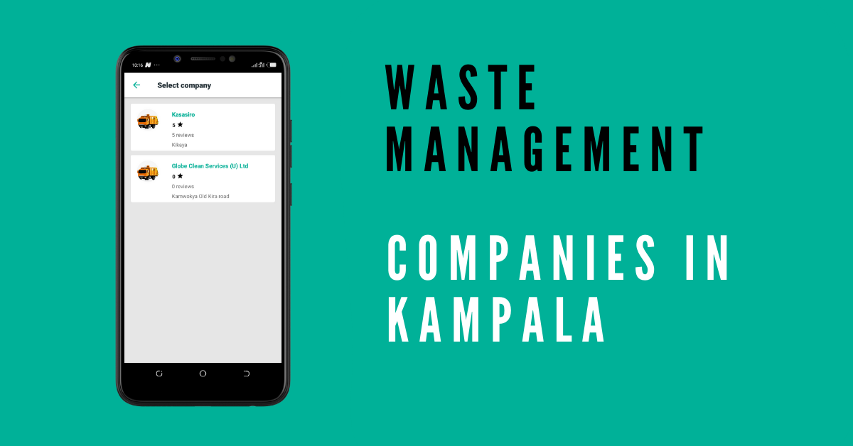 Waste Management companies in kampala