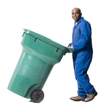 black waste collector